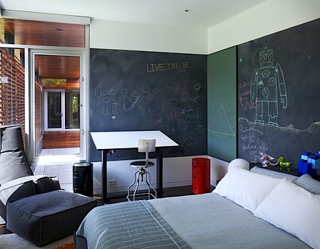 Kids' Rooms | Creatively Using Chalkboard Paint on Walls ...