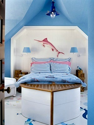 boat shaped bed for girls room nautical decor