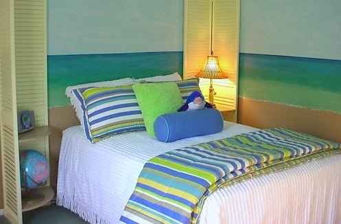 girls beach theme room