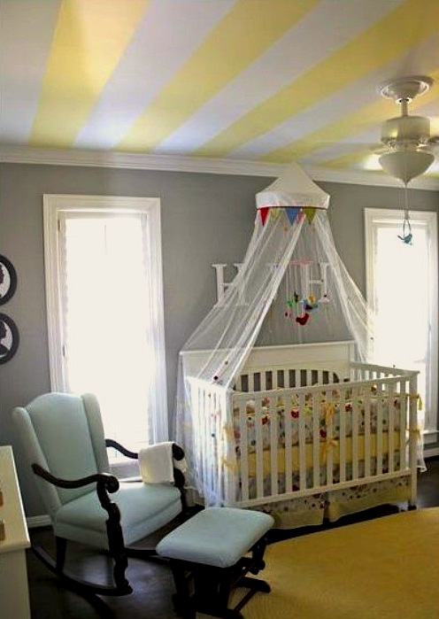 light colored stripes for baby nursery ceiling idea baby room lighting ceiling
