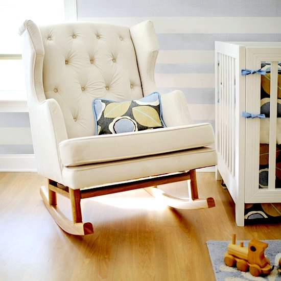 Baby Nursery Wing Back Rocking Chair