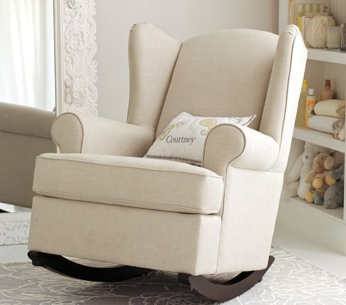 upholstered glider and ottoman for nursery 3