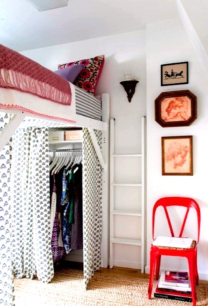 Teen Girl Small Room Ideas With Bed On Stilts No Closet