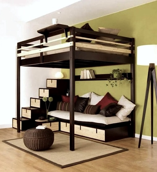 Teen Room Bed On Stilts
