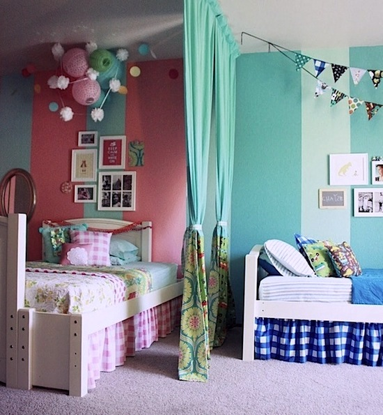 Use Color to Divide Kids Rooms