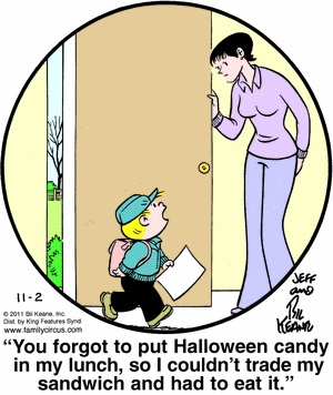 halloween comic from family circus