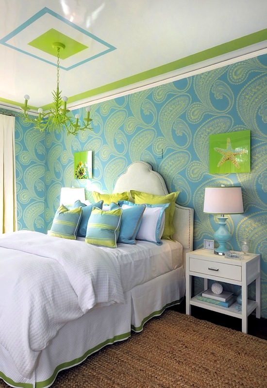 teen room ceiling ideas with painted border