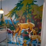 Baby Nursery Wall Mural Created Using Vintage Paint-by-Number