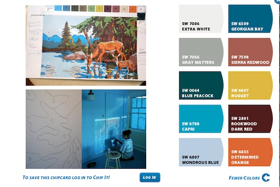 How To Choose Paint Color For Mural Using Sherwin Williams Chip It Part 40