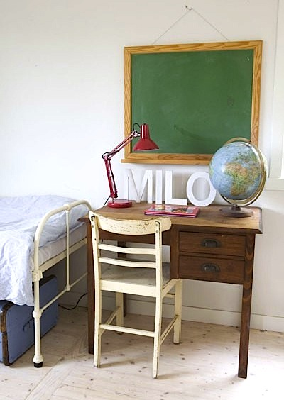 vintage desk for teen room storage
