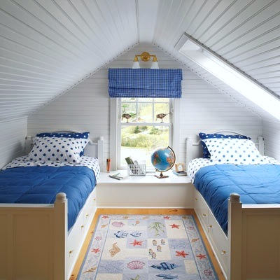 kids small space room ideas with beadboard ceiling