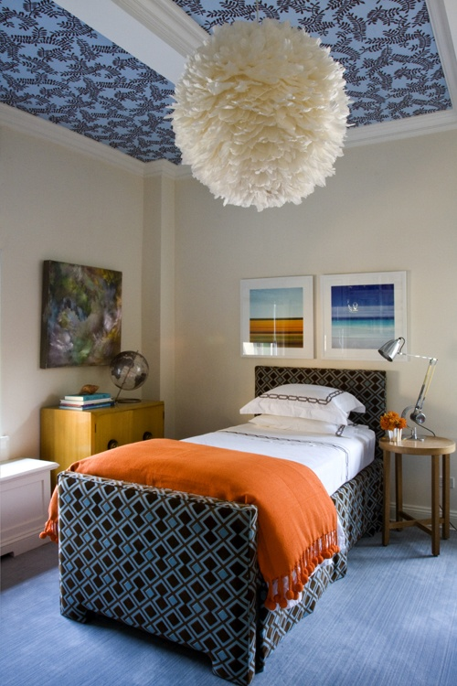 Kids' Room Ceiling Fabric Ideas by Jeanette Simpson in Nauvoo IL