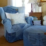 More Recycling Ideas for Kids' Blue Jeans {Seats}