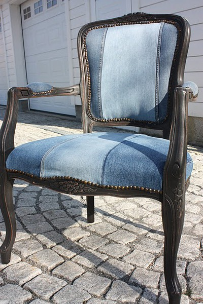 Kids Recycled Blue Jeans For Wood Frame Upholstery