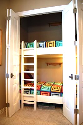 extra beds in closet for holiday visits
