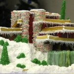 Amazing Gingerbread House Architectural Creation {Falling Water}