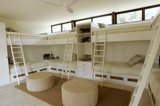 Awesome bunk room storage kidspace interiors Bunk room designs