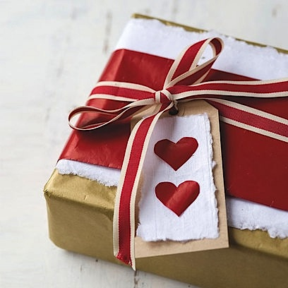 valentines day box gift wrapped