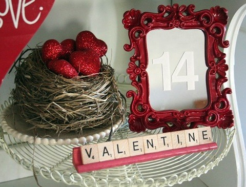 valentines day hearts in nest