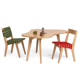 risom childs chair and amoeba table