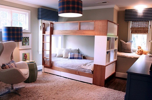 acrylic panels in boys bunk beds