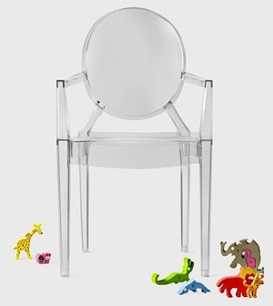 lou lou ghost chair for kids made of acrylic