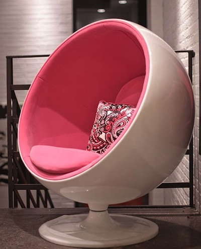classic ball chair in pink for teen girls room