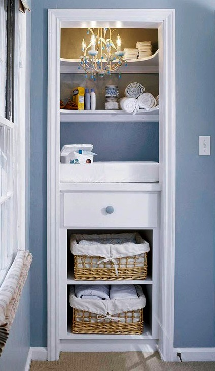 Baby nursery decor series changing tables - Changing table for small spaces gallery ...