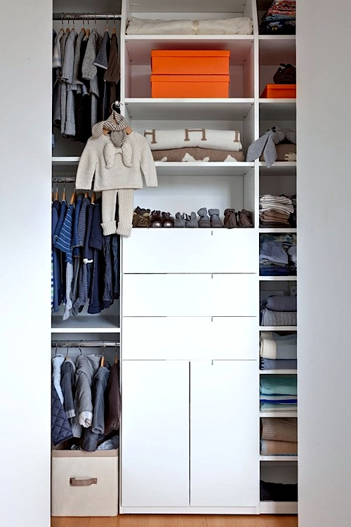 Baby Boy Closet: Maximizing Space Removes Closet Clutter