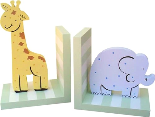 Zoo Bookends For Baby Nursery