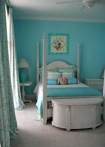 aqua girls bedroom color scheme