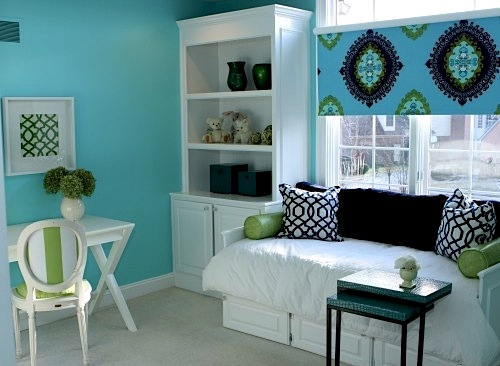 Kids 39 room color schemes alluring aqua nauvoo il for Blue and green girls bedroom ideas