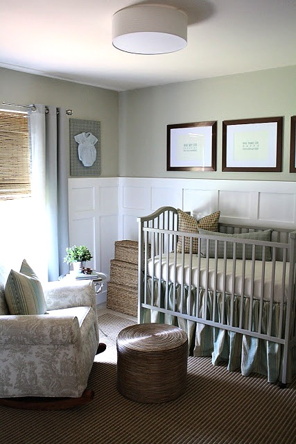 soft gray baby nursery