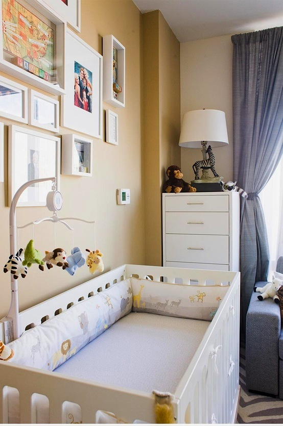 beige and gray neutral baby nursery