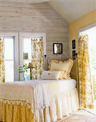 feminine sunny yellow teen bedroom