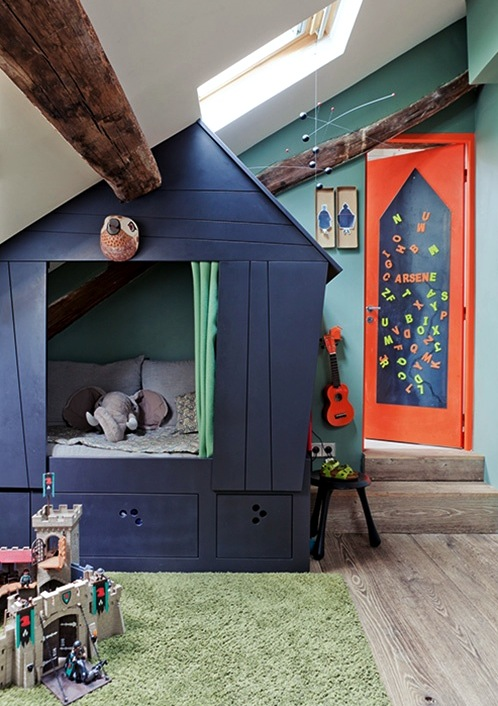 navy blue indoor playhouse
