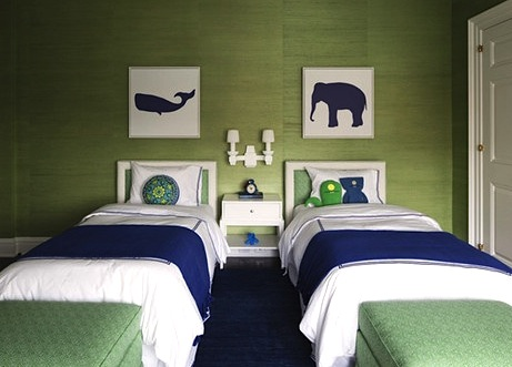 navy blue bedding in boys room