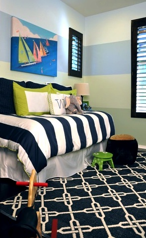 navy blue boys room
