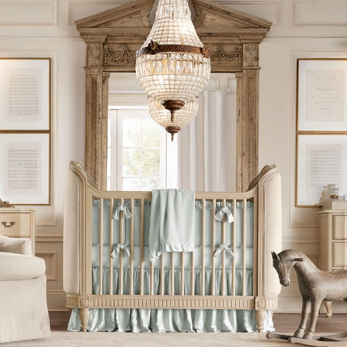 elebant baby nursery in soft teal