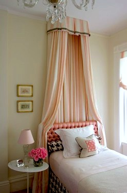 Lovely Girls Room Bed Crown Canopy KidSpace Interiors Nauvoo IL - Canopy idea bed crown