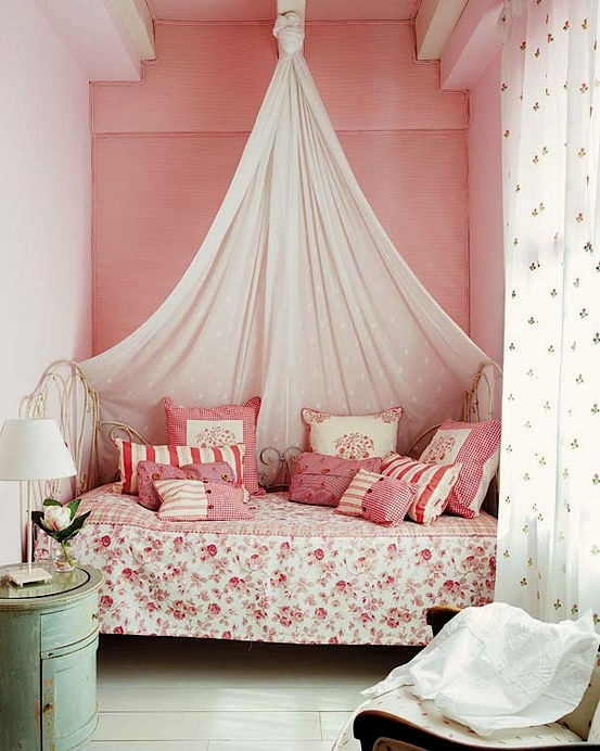 knotted crown drapery in teen bedroom & Lovely Girlsu0027 Room Bed Crown Canopy | KidSpace Interiors | Nauvoo IL