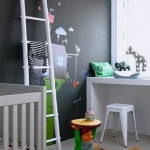New Use, Old Ladder.....A Unique Kids' Room Accessory