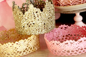 girls princess crowns for dress up play