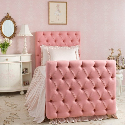 Upholstered Bed Adds Sweet Drama To Kid S Rooms Kidspace Interiors