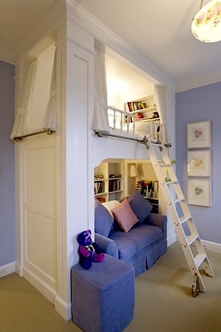 loft bed in kids room
