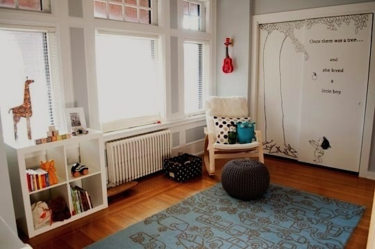 modernize old room for baby nursery