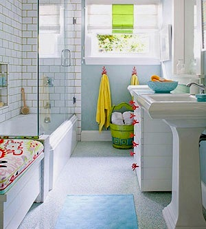 Kids' Bathrooms: Old Walls, New Fixtures and Accessories by Jeanette Simpson in Nauvoo IL