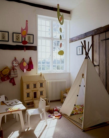 modernized old home for kids play area