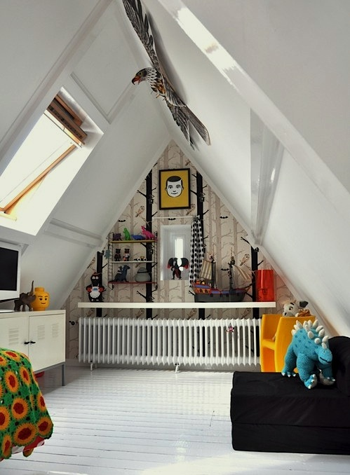 modernize old attic for kids playroom
