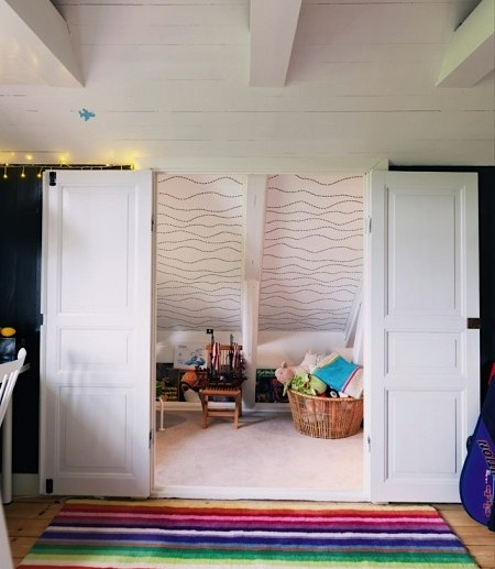 modernize old attic space for kids playroom